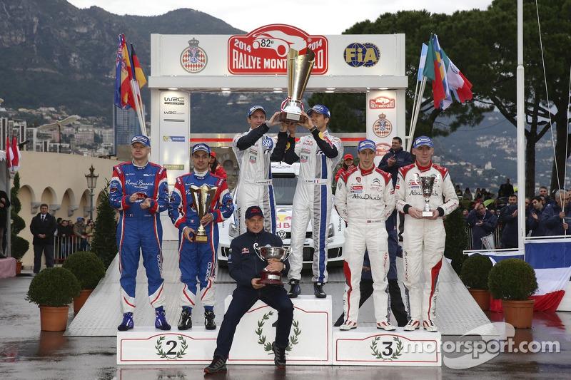 Vincitori Sébastien Ogier e Julien Ingrassia, secondo posto Bryan Bouffier e Xavier Panseri, terzo posto Kris Meeke e Paul Nagle