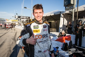 PC pole winner Colin Braun celebrates