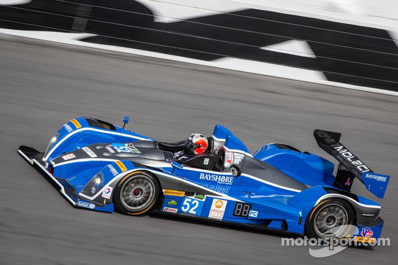 #52 PR1/Mathiasen Motorsports ORECA FLM09 雪佛兰: 迈克·瓜施, 程飞, 弗兰基·蒙泰卡尔沃, 古纳尔·让内特