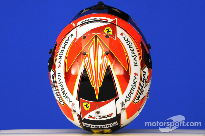 Casco di Kimi Raikkonen, la Scuderia Ferrari