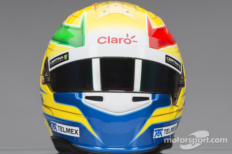 Il casco di Esteban Gutierrez, Sauber F1 Team