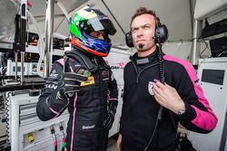 Olivier Pla and OKA Racing team manager Philippe Dumas