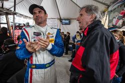 End of the race tension: Christian Fittipaldi watches the last minutes of the race