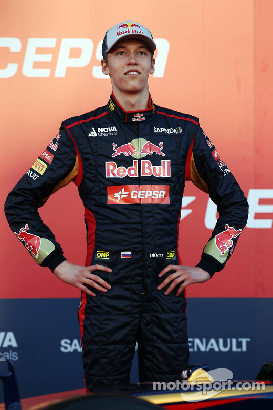 Daniil Kvyat, Scuderia Toro Rosso at the unveiling of the Scuderia Toro Rosso STR9