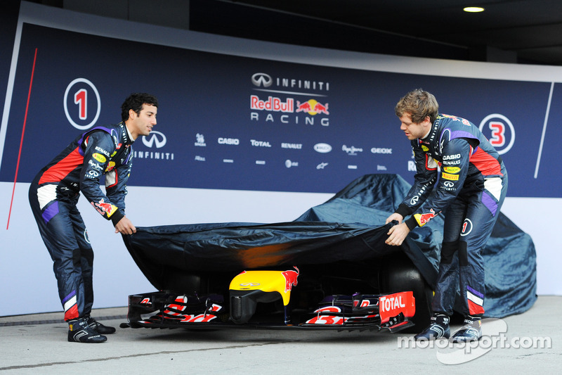 Daniel Ricciardo, Red Bull Racing; Sebastian Vettel, Red Bull Racing