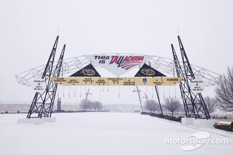 Talladega Superspeedway sotto la neve