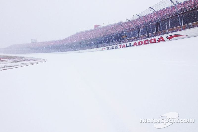 Talladega Superspeedway Under Snow At Winter At Talladega