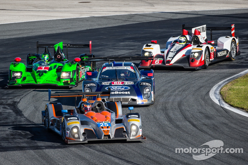 #25 8Star Motorsports ORECA FLM09 Chevrolet: Enzo Potolicchio, Tom Kimber-Smith, Michael Marsal, #60 Michael Shank Racing com Curb/Agajanian Riley DP Ford EcoBoost: John Pew, Oswaldo Negri, A.J. Allmendinger, Justin Wilson, #1 Extreme Speed Motorsports H