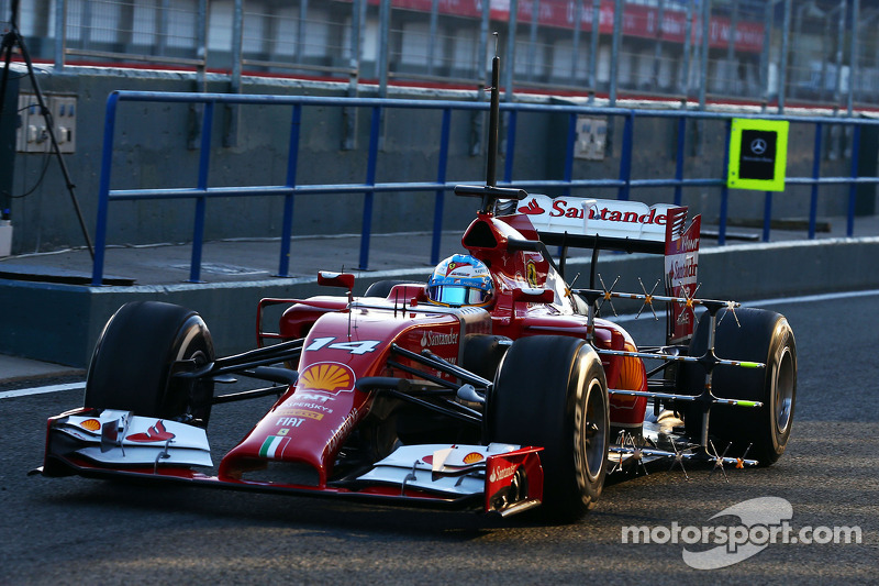 Fernando Alonso, Ferrari F14-T running sensor equipment