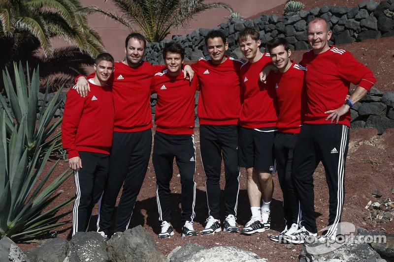 Edoardo Mortara, Adrien Tambay, Mattias Ekström and Miguel Molina