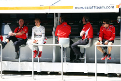The Marussia F1 Team pit gantry