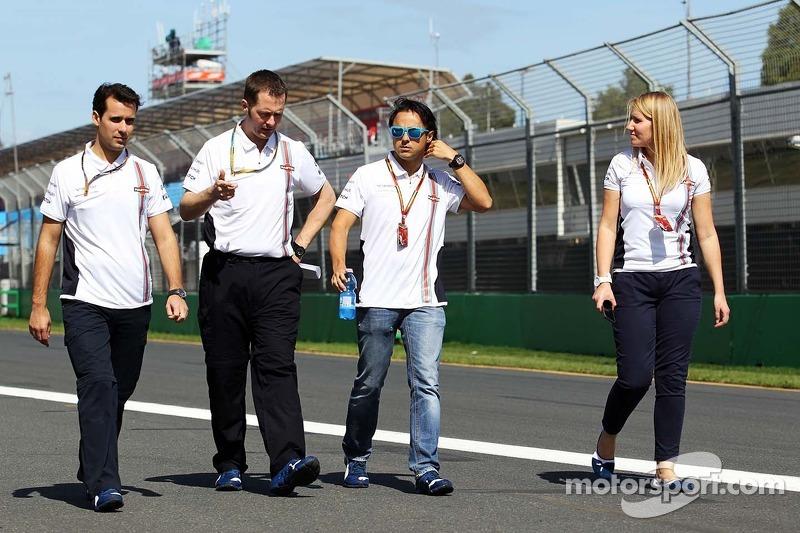 Felipe Massa, Williams walks the circuit