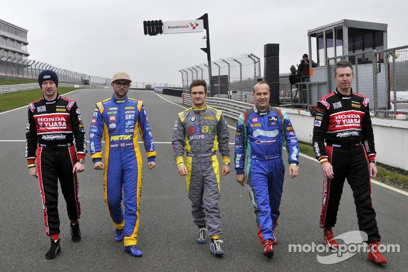 5 BTCC Champions Gordon Shedden, Andrew Jordan, Colin Turkington, Fabrizio Giovanardi e Matt Neal ch