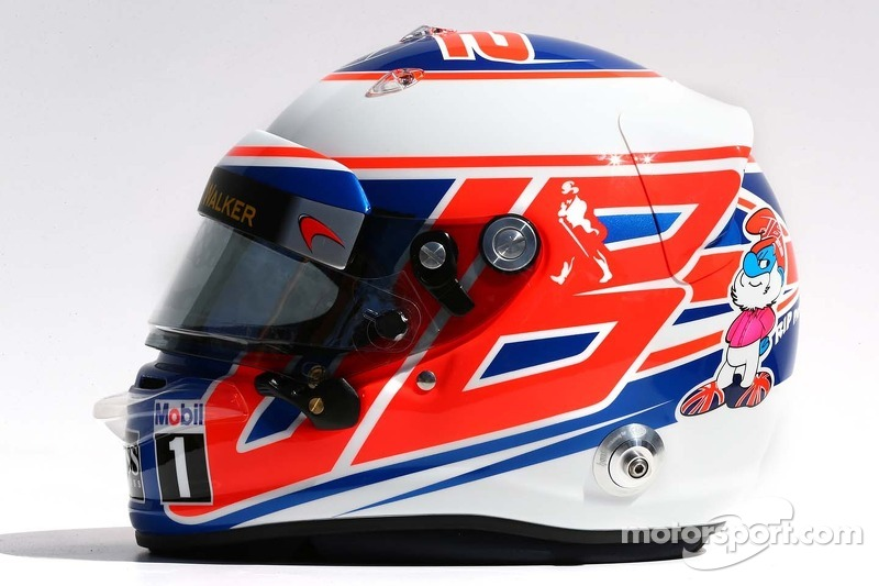 Il casco di Jenson Button, McLaren