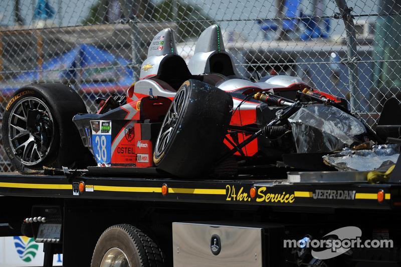 # 38 Prestazioni Tech Motorsports ORECA FLM09 Chevrolet, incidentata: Charlie Shears, Raphael Matos,