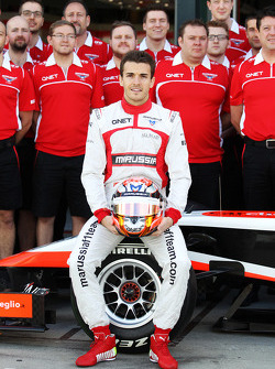 Jules Bianchi, Marussia F1 Team at a team photograph