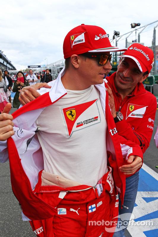 Kimi Räikkönen, Ferrari with Marc Gene, Ferrari Testfahrer