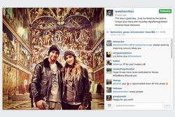 Lewis Hamilton; Nicole Scherzinger, in der Sixtinischen Kapelle