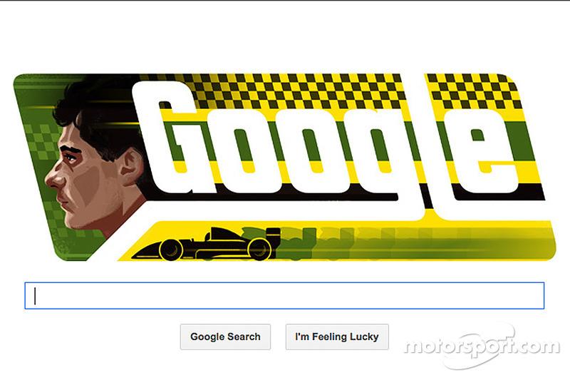 El Doodle Google de Ayrton Senna, recordando su cumpleaños