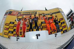 领奖台: 获胜者 Felipe Fraga,和Rodrigo Sperafico, 第二名 Valdeno Brito,和Jeroen Bleekemolen, 第三名 Marcos Gomes,和Mauro Giallombardo