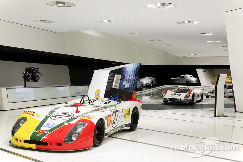 Exhibición de Le Mans en el Museo Porsche en Stuttgart