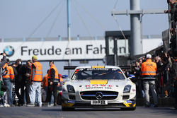 Maro Engel, Thomas J‰ger, Michael Zehe, Rowe Racing, Mercedes Benz SLS AMG GT3