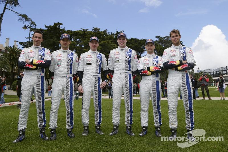 Sébastien Ogier, Julien Ingrassia, Miikka Anttila, Jari-Matti Latvala, Mikko Markkula, Andreas Mikke