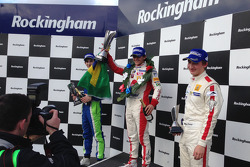 Podium: race winner Pietro Fittipaldi, second place Piers Hickin, third place Matteo Ferrer