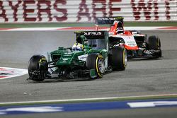 Marcus Ericsson, Caterham F1 Team MR03; Max Chilton, Marussia F1 Team MR03