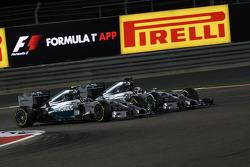 Nico Rosberg, Mercedes AMG F1 W05 and Lewis Hamilton, Mercedes AMG F1 W05