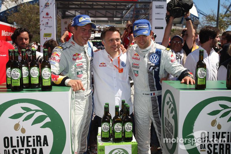 Vincitori Sébastien Ogier e Julien Ingrassia, Volkswagen Polo WRC, Volkswagen Motorsport