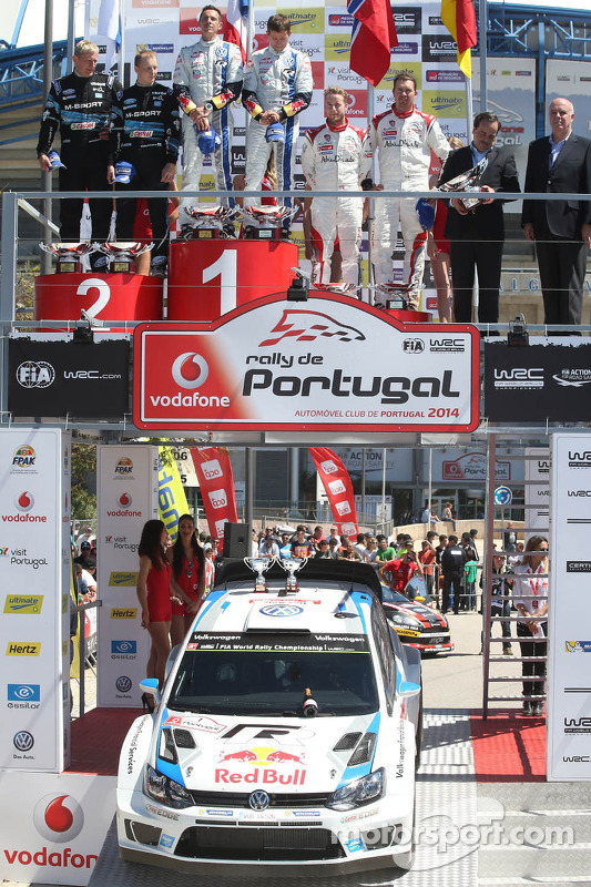Vincitori Sébastien Ogier e Julien Ingrassia, secondo posto Mikko Hirvonen e Jarmo Lehtinen, terzo p