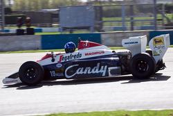 Damon Hill drives Ayrton Senna's Toleman TG184
