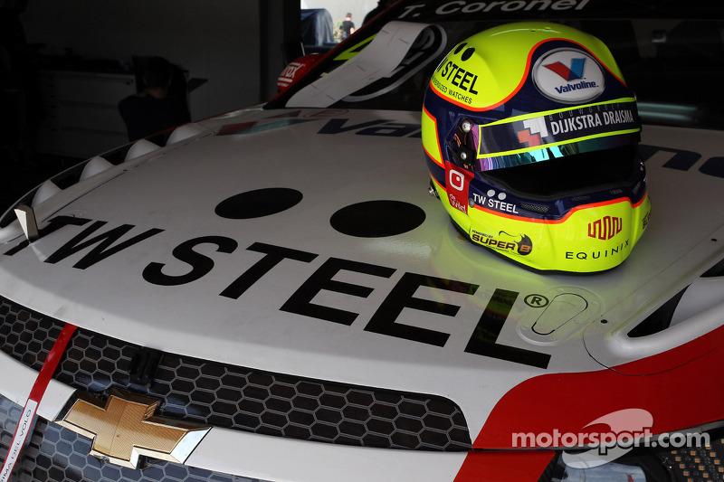 Il casco di Tom Coronel, Chevrolet Cruze RML TC1, Roal Motorsport