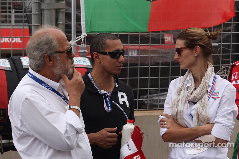 Il padre e la moglie di Tiago Monteiro, Honda Civic WTCC, Castrol Honda WTC team