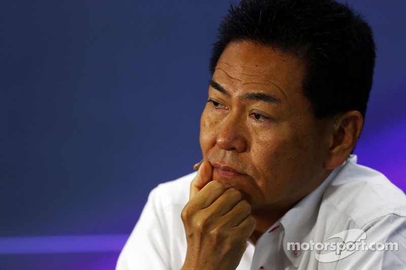 Yasuhisa Arai, Direttore Honda Motorsport alla conferenza stampa FIA