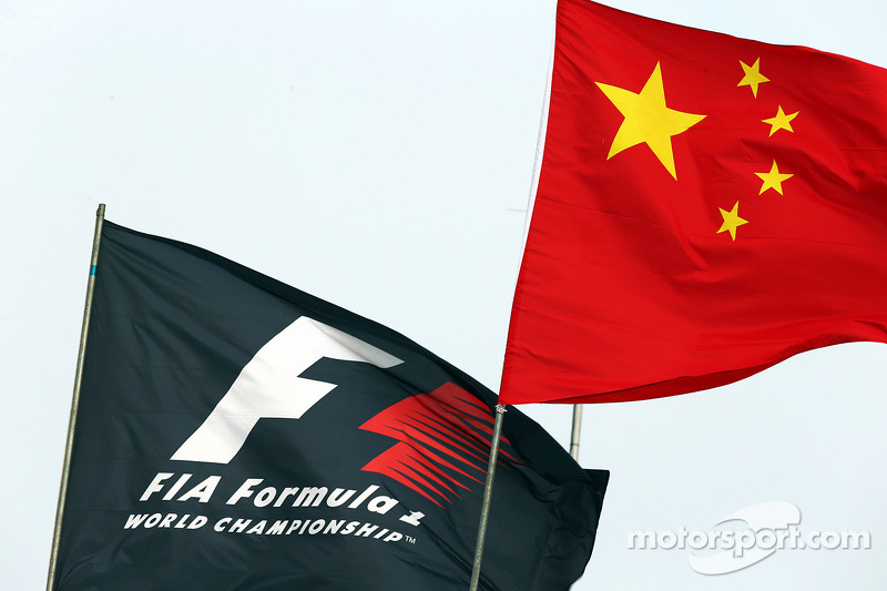 F1 and Chinese flags