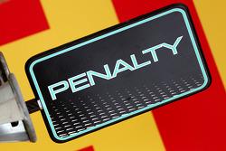 Mercedes GP, Penalty