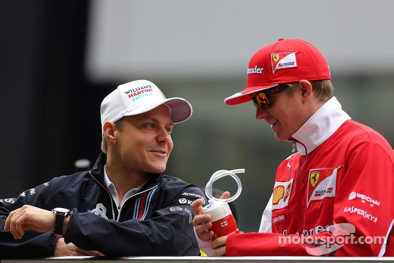 Valtteri Bottas, Williams F1 Team e Kimi Raikkonen, Scuderia Ferrari