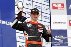 Podium: second place Max Verstappen