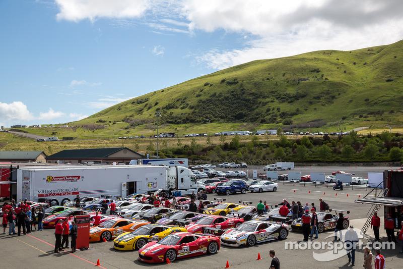 Parc ferme after Race 2