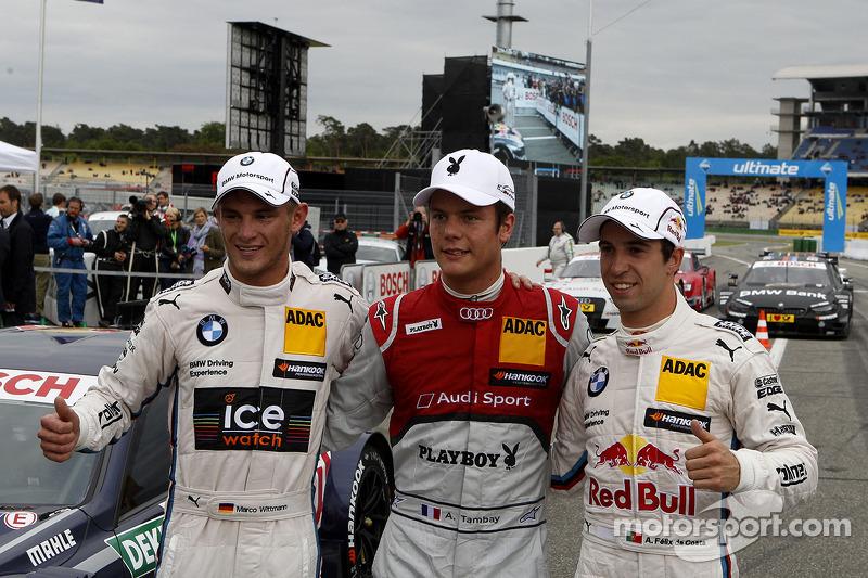 2nd Marco Wittmann, BMW Team RMG BMW M4 DTM, Pole Adrien Tambay, Audi Sport Team Abt Sportsline Audi RS 5 DTM, now 4th Antonio Felix da Costa, BMW Team MTEK BMW M4 DTM