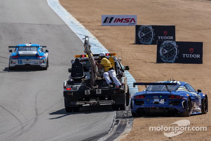 Problemi per la # 46 Autunno-Line Motorsports Audi R8 LMS: Charles Espenlaub, Charlie Putman