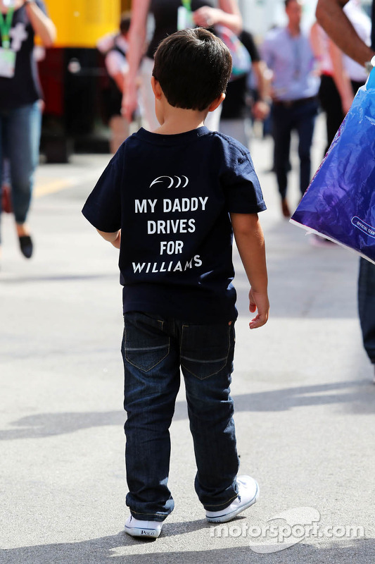 Felipinho Massa, son of Felipe Massa, Williams