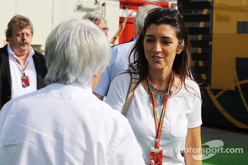 Bernie Ecclestone, con su esposa Fabiana Flosi