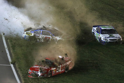 Justin Allgaier, A.J. Allmendinger and Casey Mears in trouble