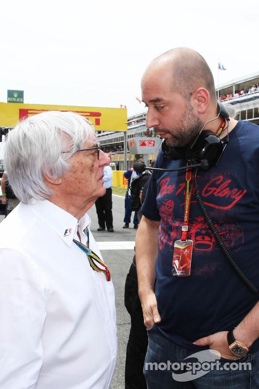 (Esquerda para direita): Bernie Ecclestone, com Gerard Lopez, chefe de equipe da Lotus F1
