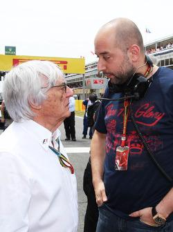 (Da sinistra a destra): Bernie Ecclestone, con Gerard Lopez, Lotus F1 Team Principal