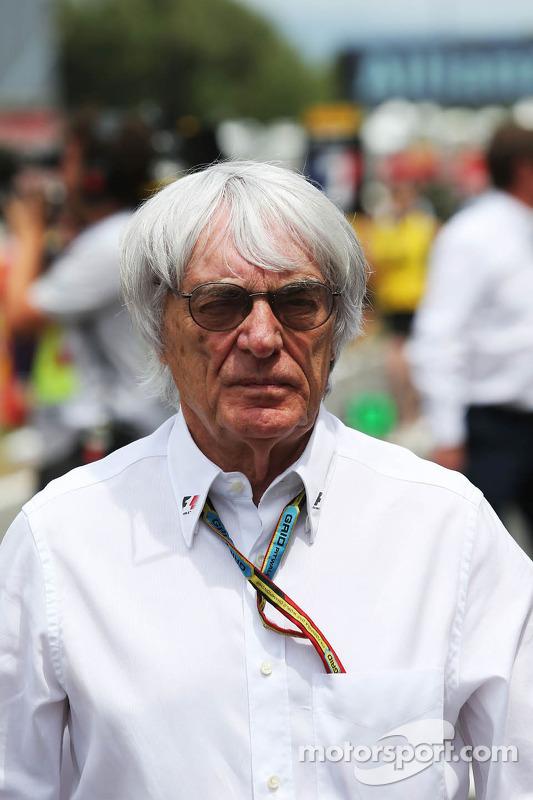 Bernie Ecclestone no grid