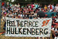 Nico Hulkenberg pankartı, Sahara Force India F1